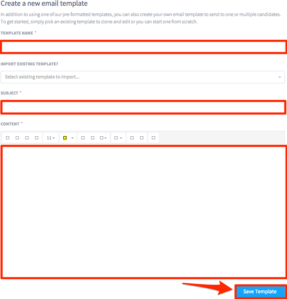 creating a new email template trinet cloud help desk the newly created template will appear in the email template section