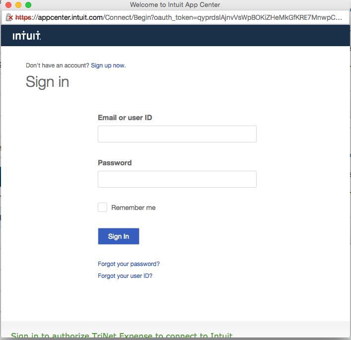 QuickBooks Online - Setup Integration – TriNet Cloud Help Desk