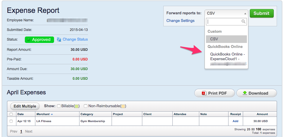 export reports to quickbooks online trinet cloud help desk